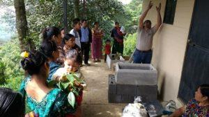 neue Öfen für die Familien in Vuelta Grande