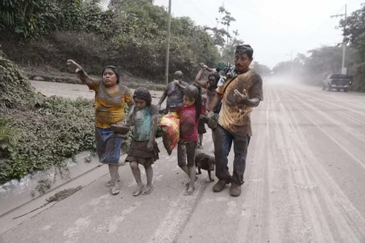 Vulkanausbruch Fuego, Guatemala