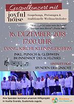 """Poster Gospelkonzert """"joyful noise"""""""